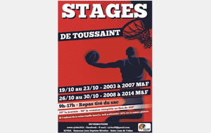Stages Toussaint 2020